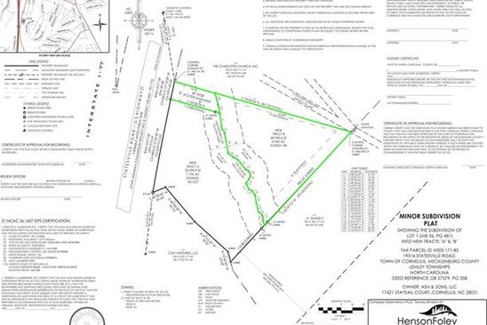 0 bed null bath Vacant Land at 19303 Statesville Rd Cornelius, NC, 28031 is for sale at 200k - google static map