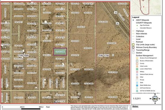 null bed null bath Vacant Land at  Tbd N Bryce Rd Golden Valley, AZ, 86413 is for sale at 12k - google static map