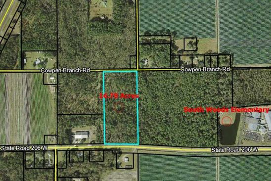 null bed null bath Vacant Land at 7501 Cowpen Branch Rd Elkton, FL, 32033 is for sale at 375k - google static map