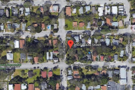 null bed null bath Vacant Land at 3503 Plaza St Miami, FL, 33133 is for sale at 250k - google static map