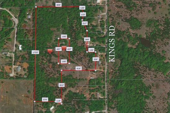 null bed null bath Vacant Land at  Kings Rd 32 Acres Shawnee, OK, 74801 is for sale at 175k - google static map