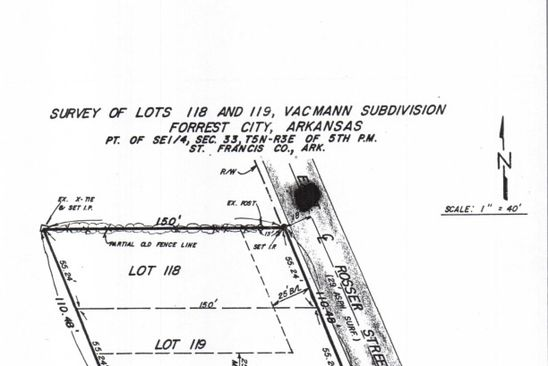 null bed null bath Vacant Land at  Rosser & C St Forrest City, AR, 72335 is for sale at 7k - google static map