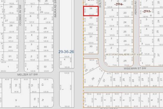 null bed null bath Vacant Land at 2426 BOLTON AVE PALM BAY, FL, 32908 is for sale at 6k - google static map