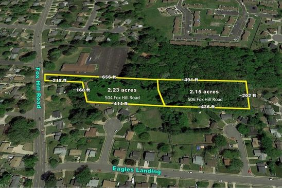0 bed null bath Vacant Land at 504 Fox Hill Rd Hampton, VA, 23669 is for sale at 140k - google static map