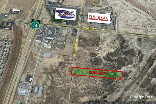 null bed null bath Vacant Land at  W 25th St Lancaster, CA, 93536 is for sale at 143k - google static map