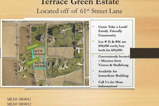 null bed null bath Vacant Land at  Terrace Green Est Vinton, IA, 52349 is for sale at 30k - google static map