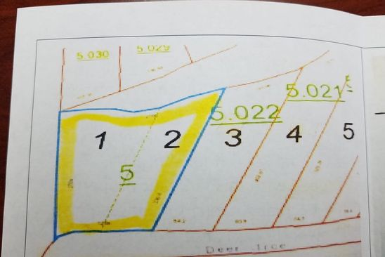 null bed null bath Vacant Land at  Lots 1&2 Deer Trce Wedowee, AL, 36278 is for sale at 59k - google static map